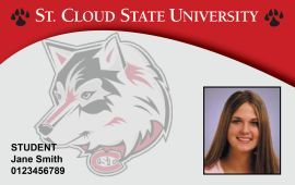 Image of SCSU Campus Card with SCSU ID number circled in lower left of card